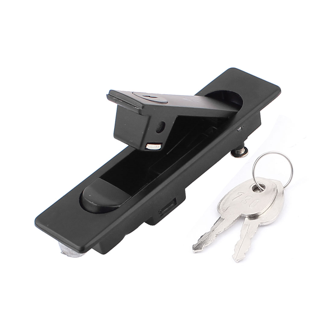 Black Metal Panel Lock Lockset for Iron Distribution Cabinet w Two Keys