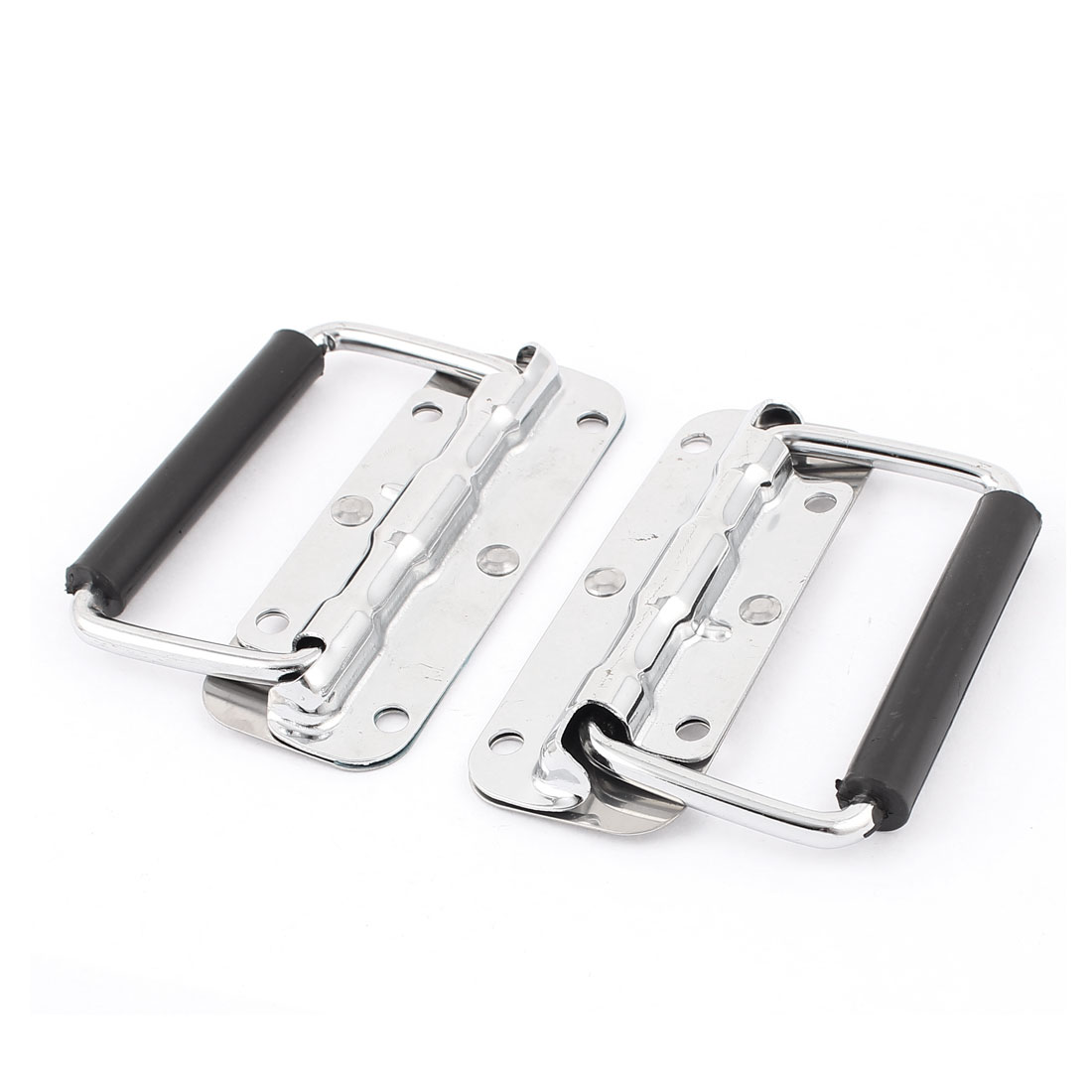 2pcs Stainless Steel Spring Loaded Toolbox Door Cabinet Box Chest Pull Handle Puller Grip