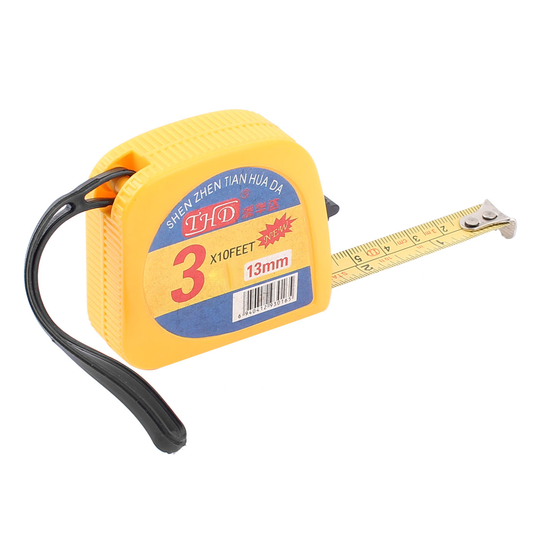 3.0M Yellow Plastic Shell Retractable Tapeline Ruler Measuring Tape Measure Tool