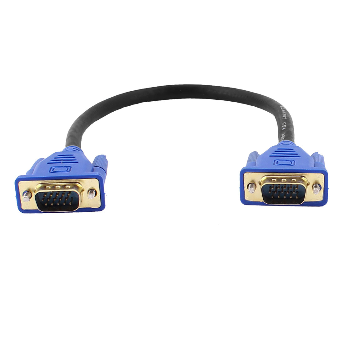 30cm 1Ft 15 Pin VGA Male to Male Connector M/M Adapter Cable Cord Blue for PC Laptop