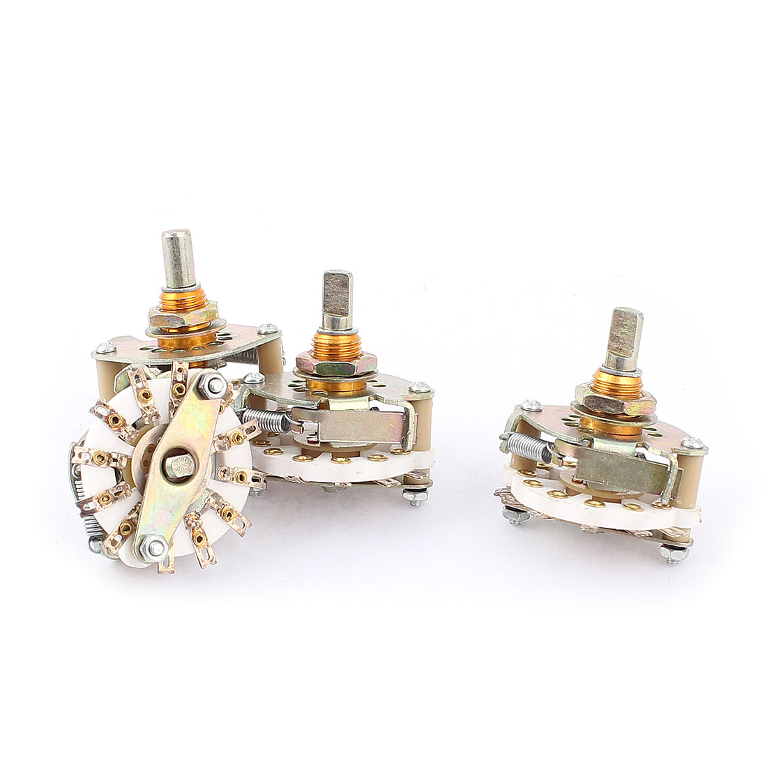 4pcs 6mm Diameter D Shaft 1P6T 1 Pole 6 Position Ceramic Band Channel Rotary Switch Selector