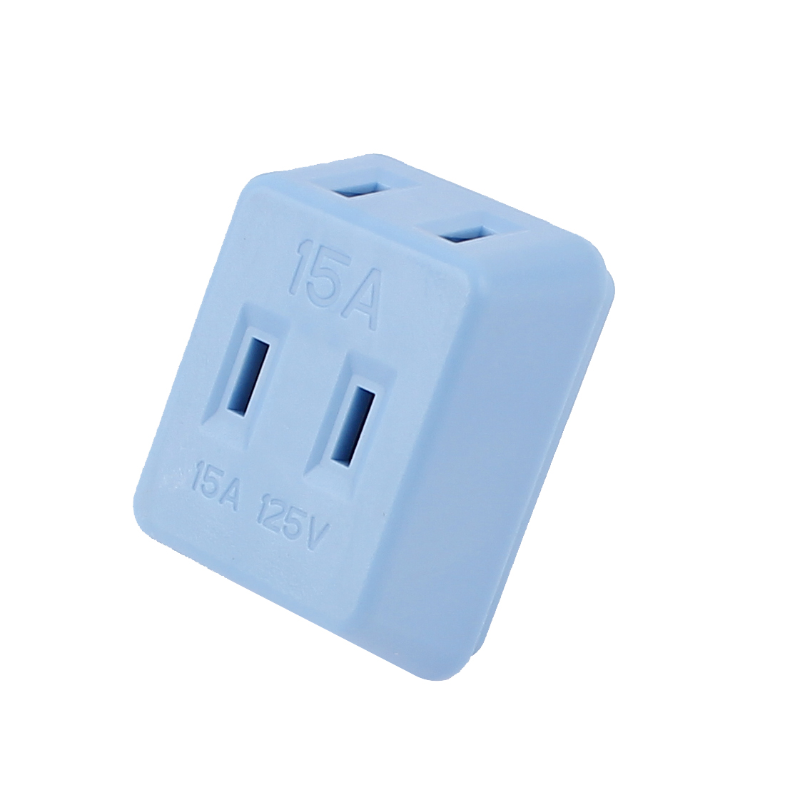 AC 125V 15A US Plug 1 to 3 Ways Power Charger Adapter Converter Socket Blue