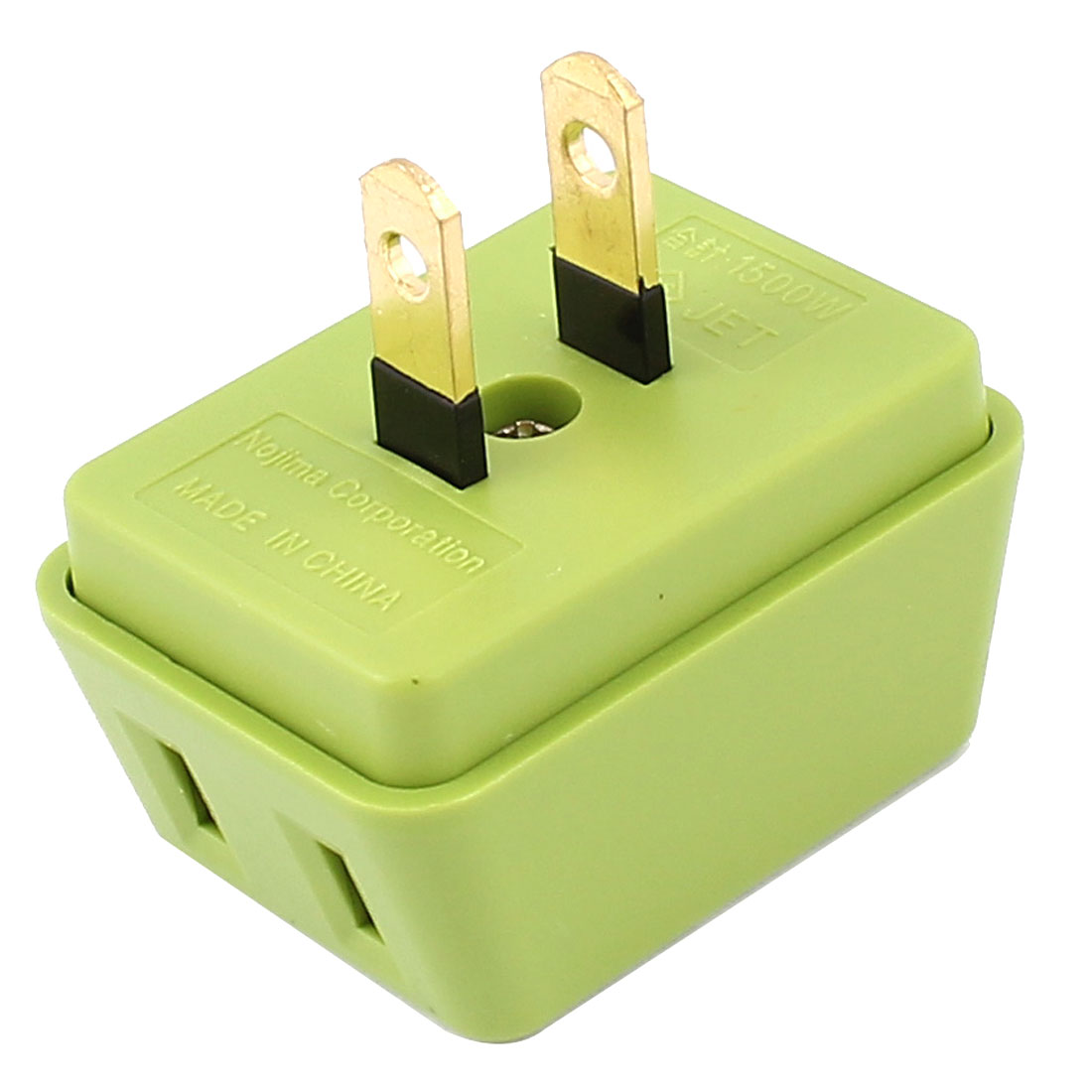 AC 125V 15A US Plug 1 to 3 Ways Power Charger Adapter Converter Socket Green