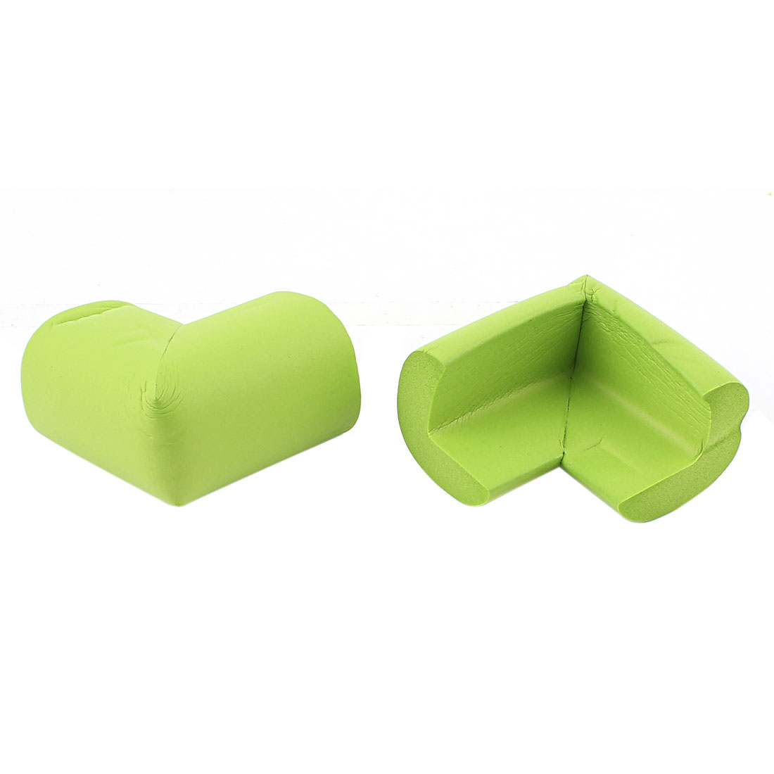 2Pcs Table Desk Shelves Edge Corner Cushion Safety Bumper Guard Protector Green