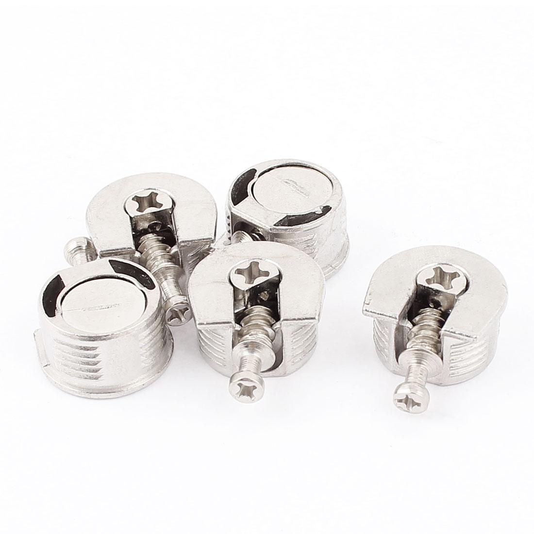 6mm Screw Diameter Metal Shelf Support Stud Pin Post Silver Tone 5pcs