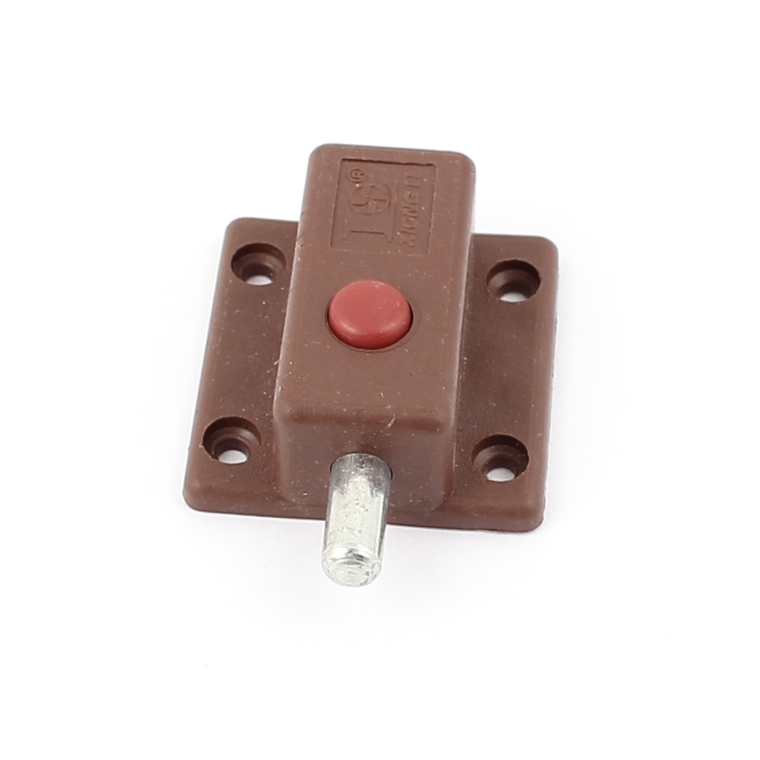 Round Push Button Control Cupboard Door Latch Lock Barrel Bolt