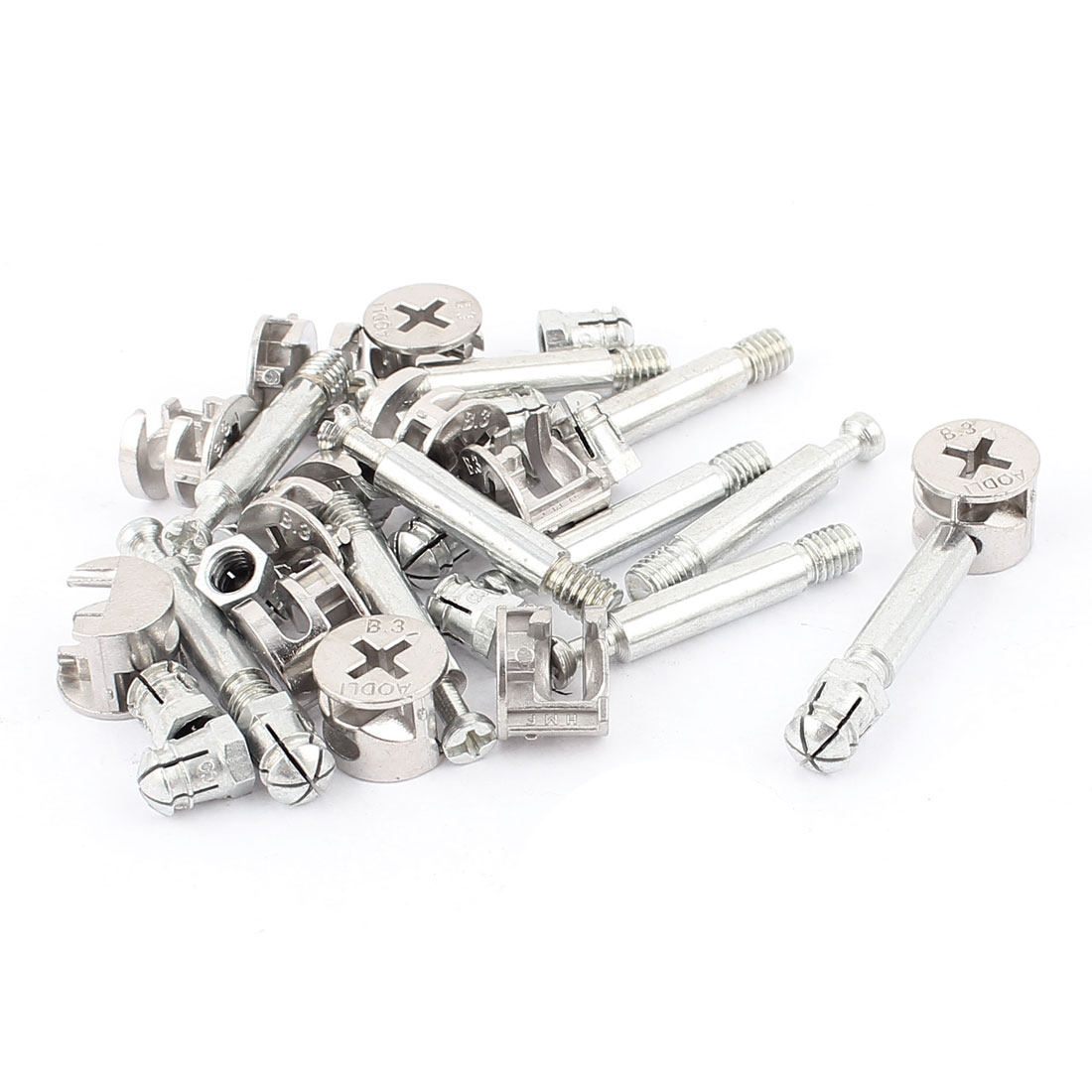 Knock Down Furniture Cam Lock Fitting Dowel Assembly 11 Sets