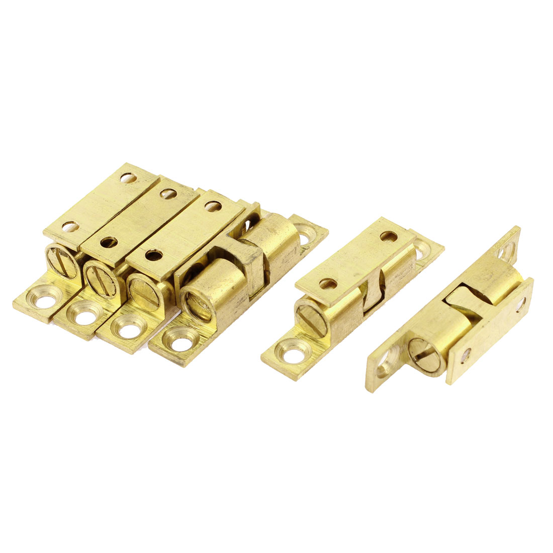 Home Door Double Ball Catch Hardware 40mm Long 6Pcs