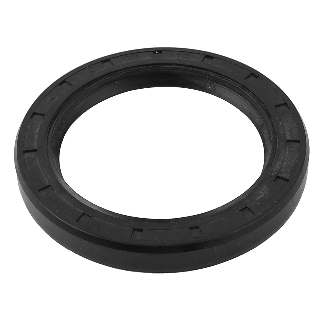 Rubber Covered Dual Lip Steel Spring Shaft TC Oil Seal Black