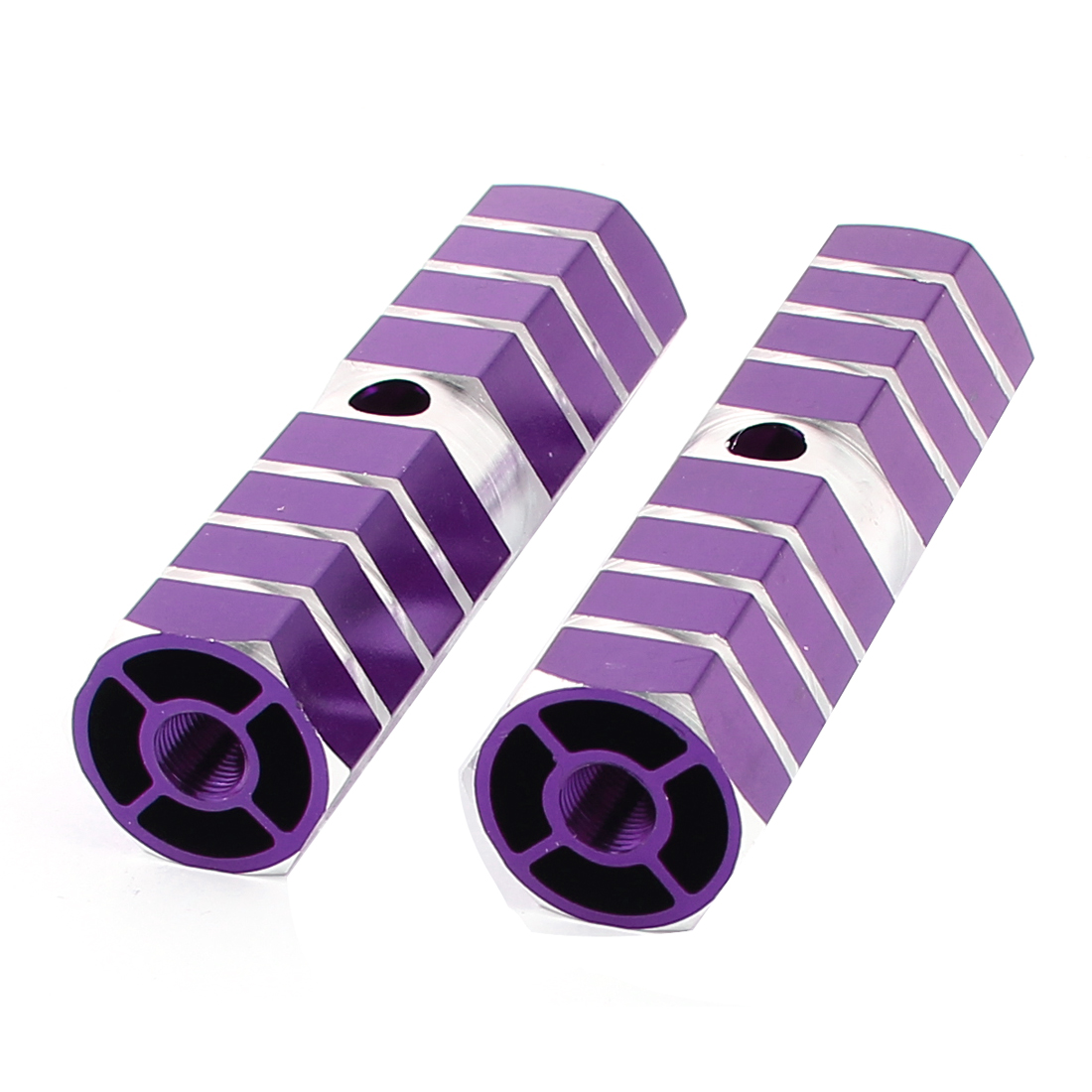 2pcs 100x30mm Bike Bicycle Aluminum Foot Pegs Axles Purple