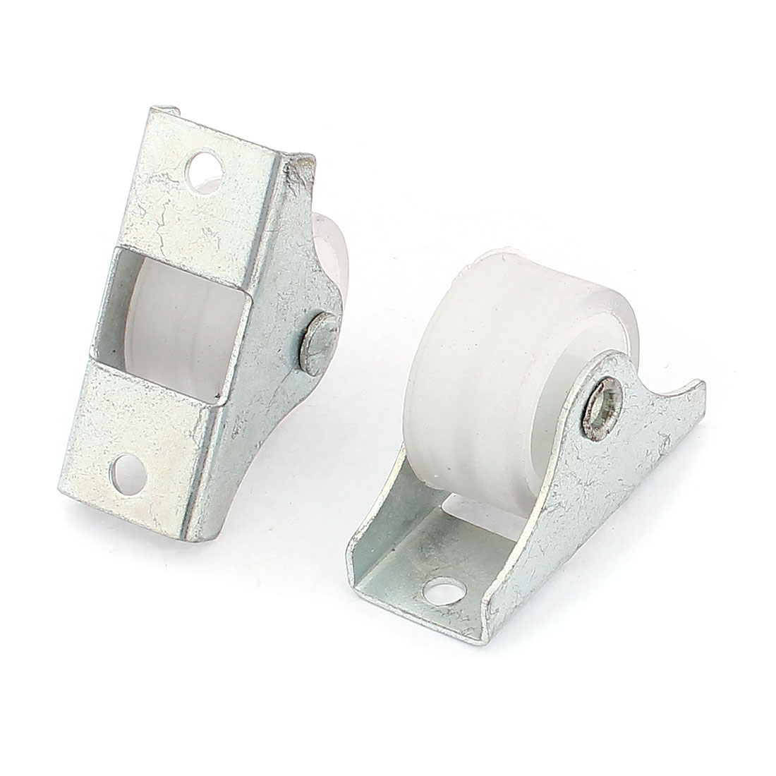 Nylon 25mm Dia Single Wheel Sliding Roller Window Pulley White 2pcs