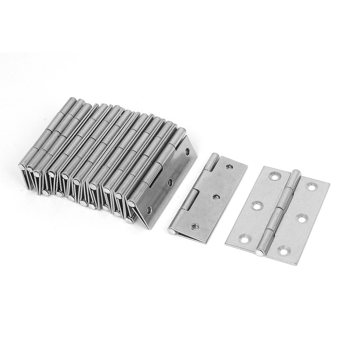 "10pcs 2.5"" Long Silver Tone Metal Rectangle Security Butt Hinge for Cabinet Drawer Door"