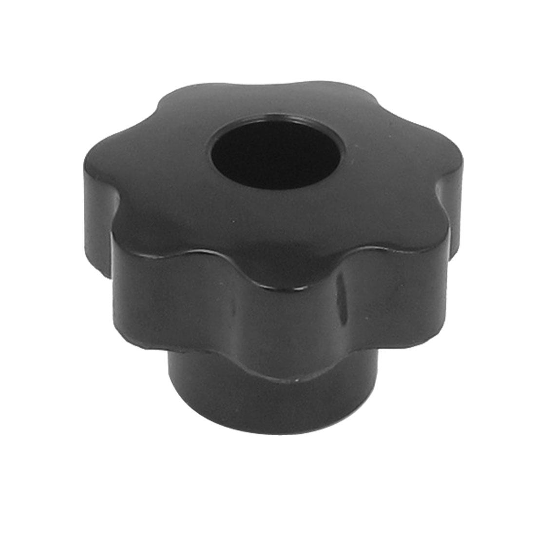 7mm Female Threaded Diameter Plastic Head Screw on Type Clamping Knob Grip