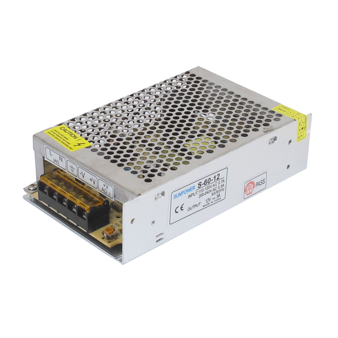 S-60-12 DC 12V 5A LED Strip Light Lighting Display Switching Power Supply Adapter Convertor Driver