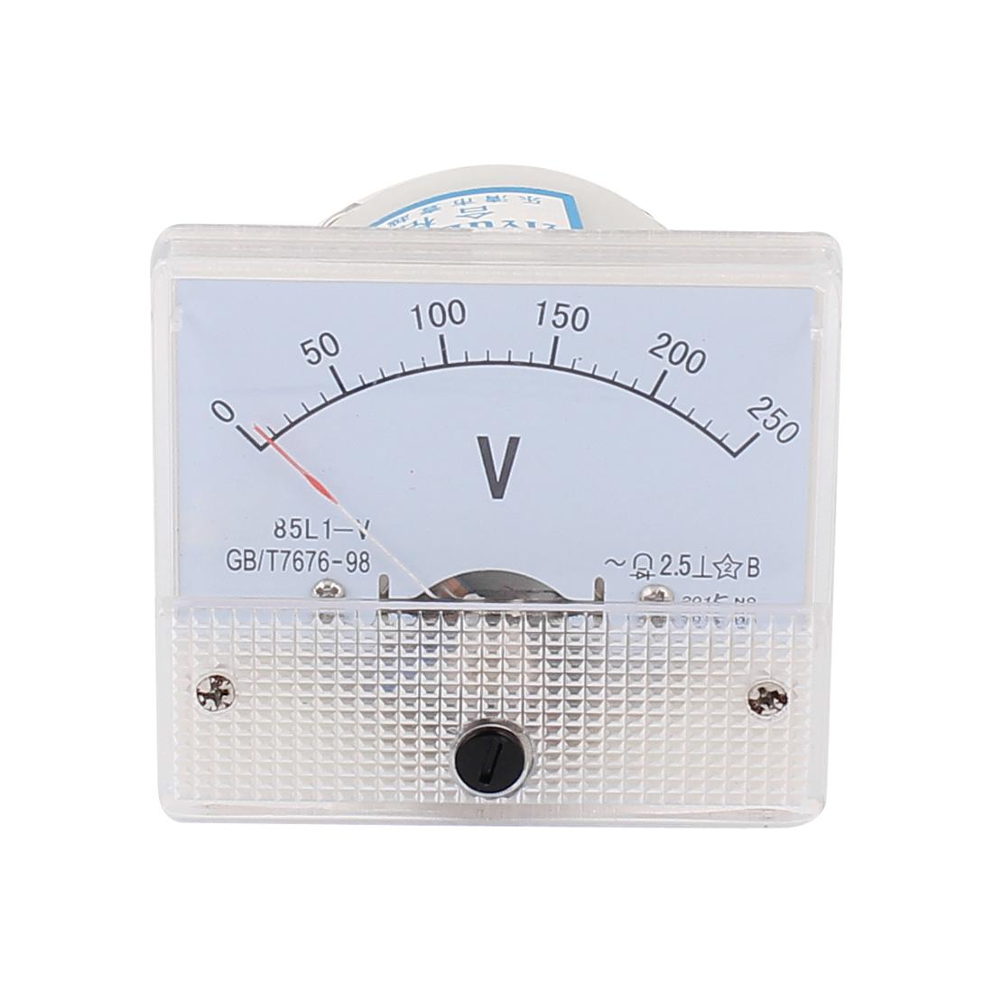 AC 0-250V Rectangle Panel Analog Voltmeter Voltage Meter Gauge 85L1