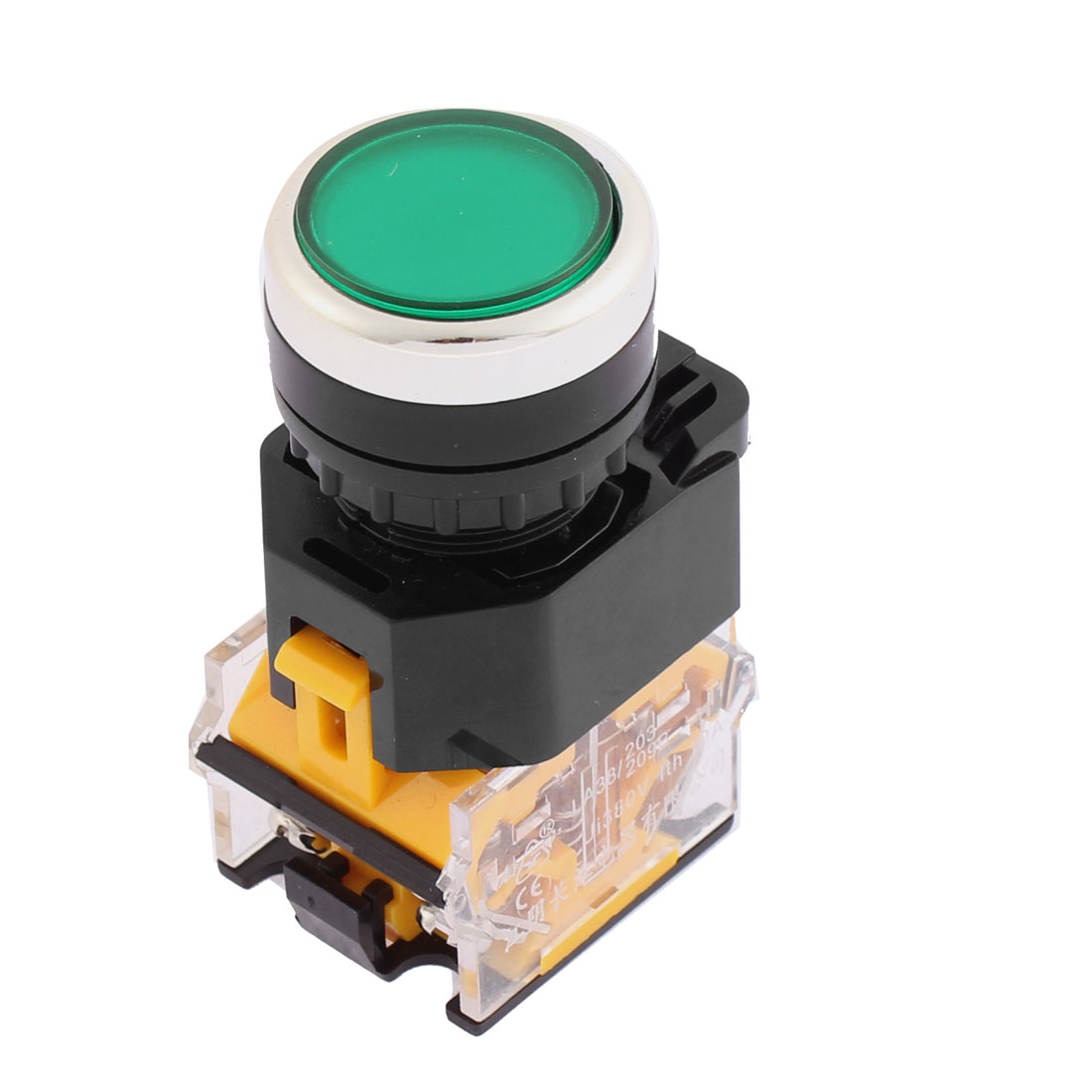 380V 10A 21mm Panel Green Button Momentary Pushbutton Switch 1NO 1NC DPST