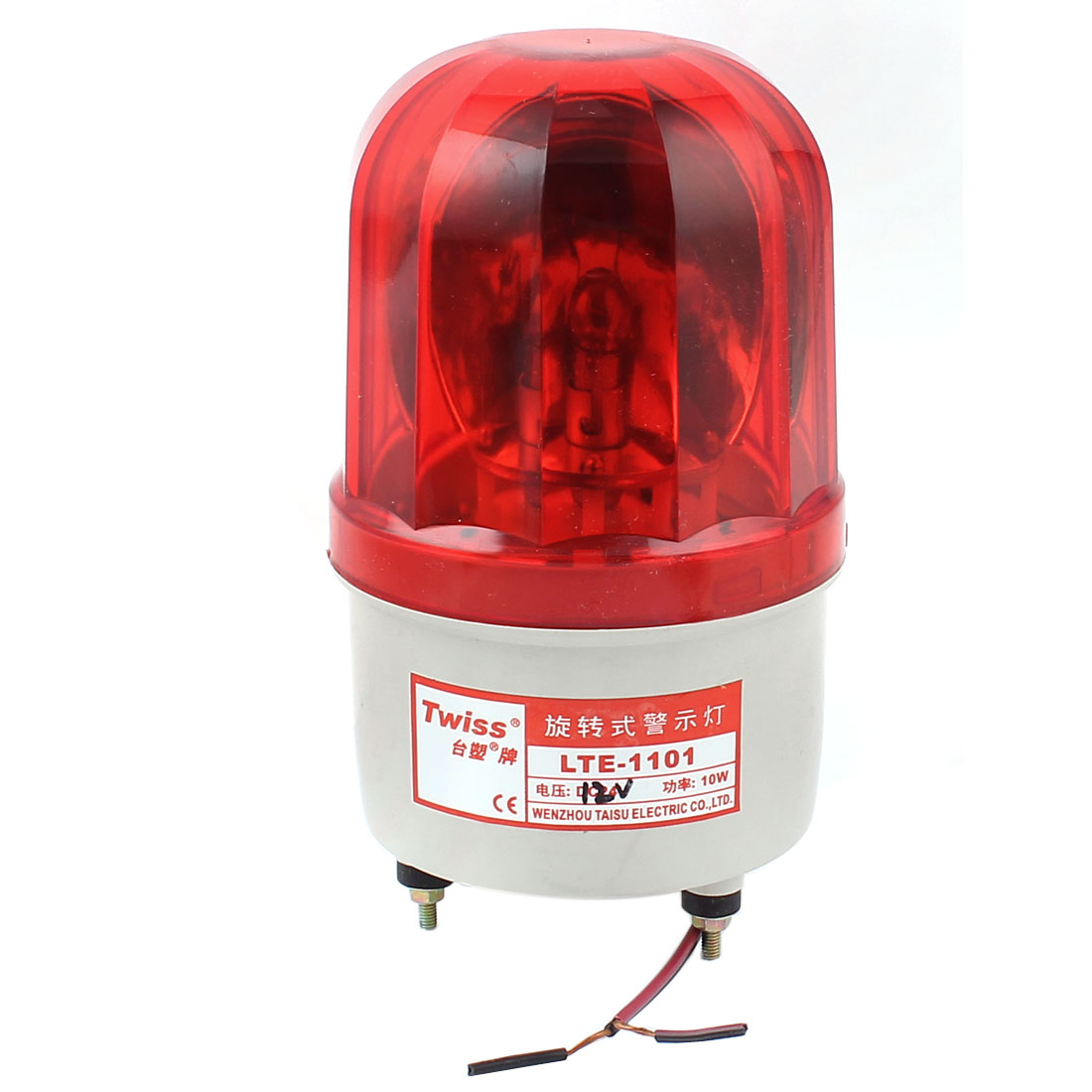 DC 12V Industrial Alarm System Rotating Warning Light Lamp Red