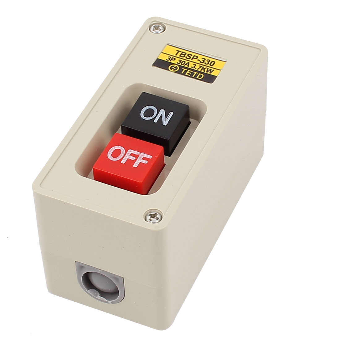 TBSP-330 ON/OFF 3P Latching Push Button Pushbutton Switch 3.7KW 30A