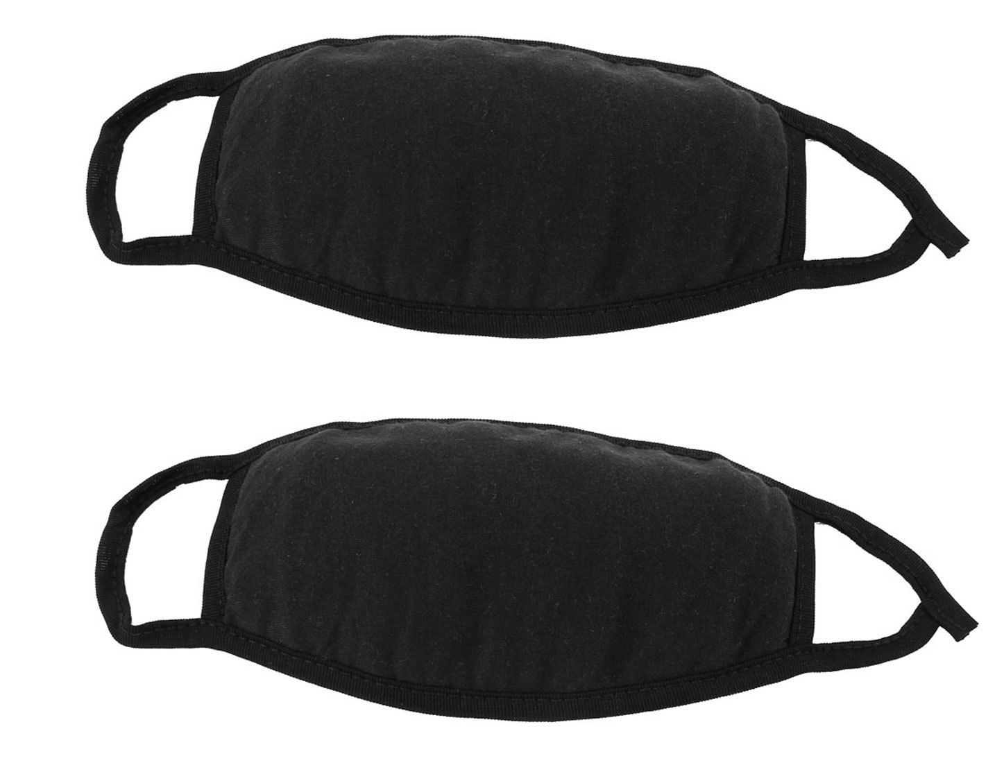 Unisex Outdoor Anti-Dust Mouth Nose Muffle Earloop Face Mask Black 2Pcs