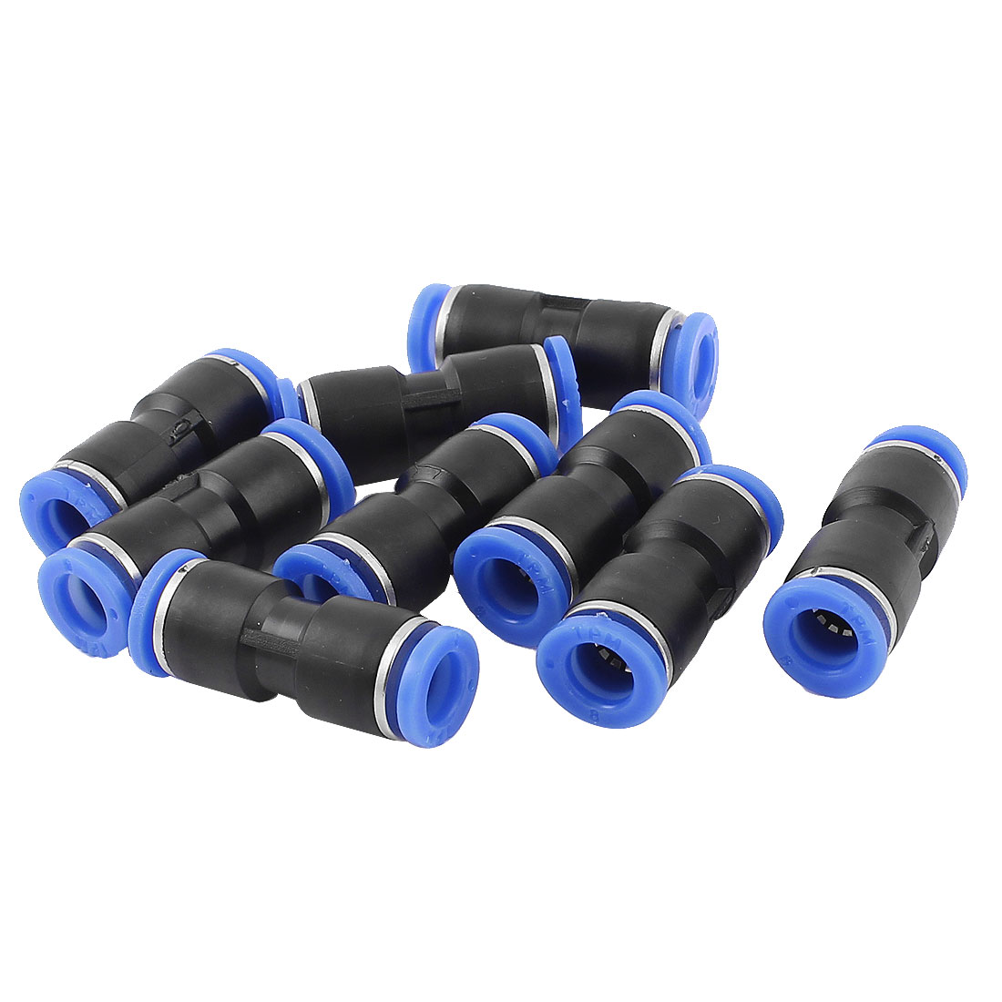 9pcs 8mm to 8mm Straight Push in Air Pneumatic Quick Fitting Coupler