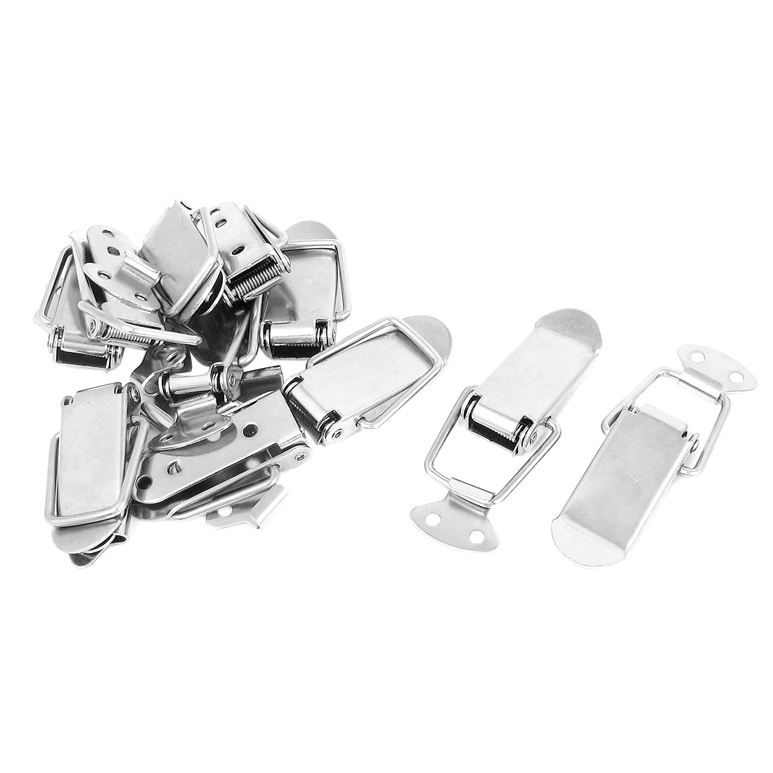 11pcs Sillver Tone Metal Spring Toolbox Box Chest Case Drawer Lock Toggle Latch Hasp