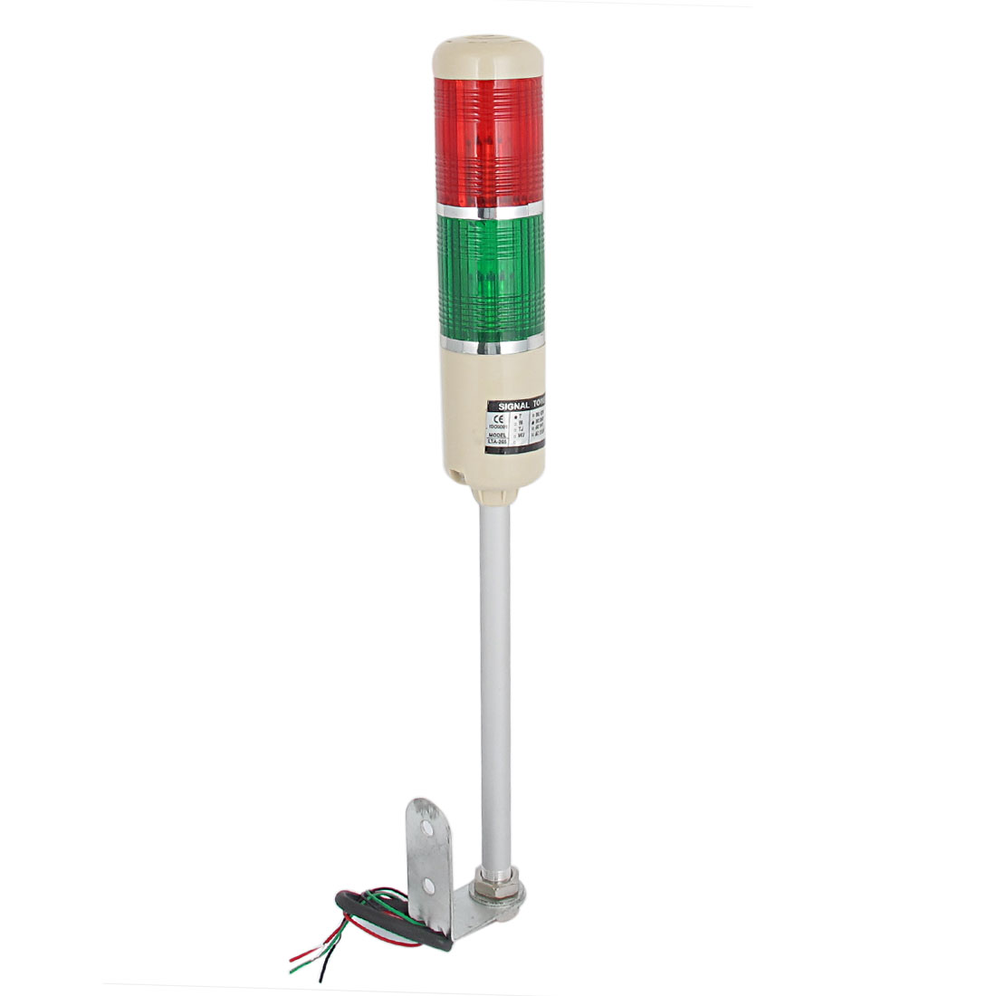 DC 24V Industrial LED Flash Warning Indicator Light Buzzer Signal Tower Alarm Lamp Red Green