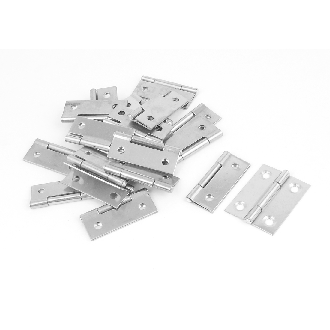 "4mm Mounting Hole Metal Foldable Drawer Door Butt Hinge Hardware 40mm 1.5"" Long 10pcs"