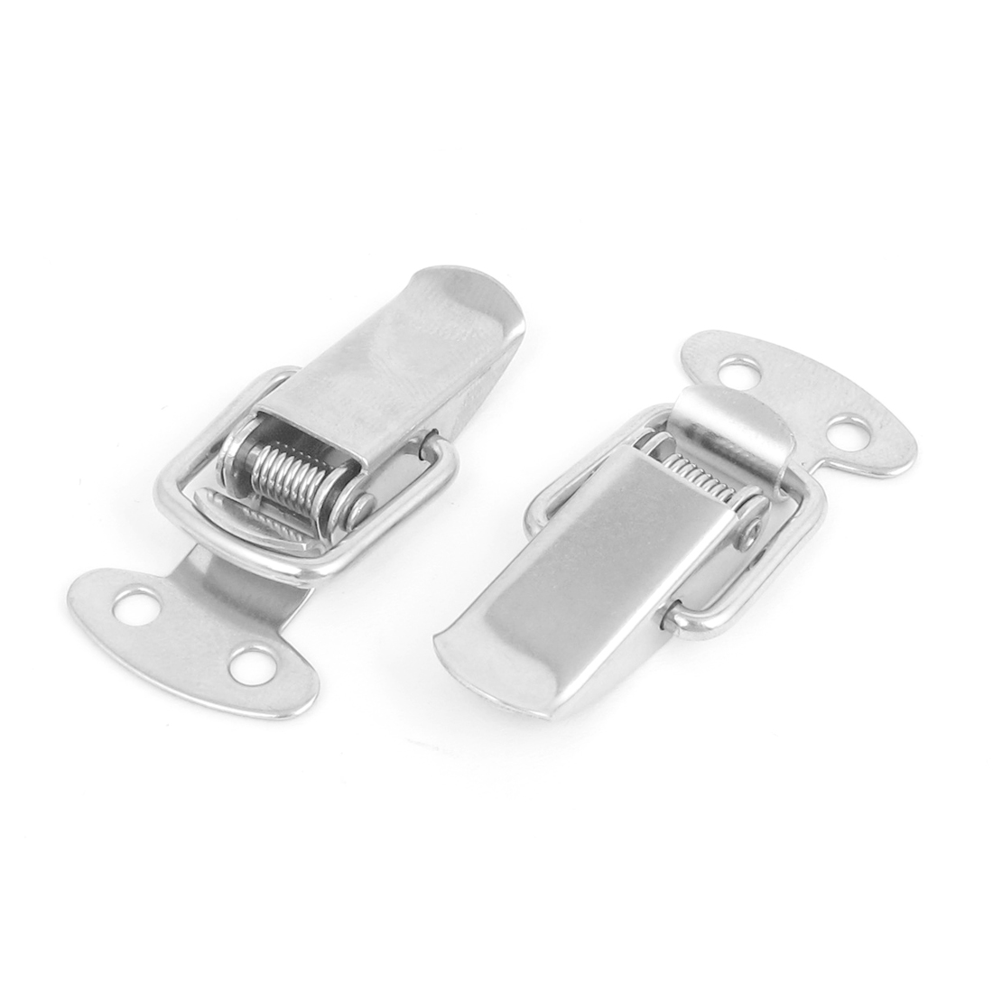 2pcs Metal Spring Loaded Toolbox Drawer Chest Lock Toggle Latch Hasp Hardware Tool