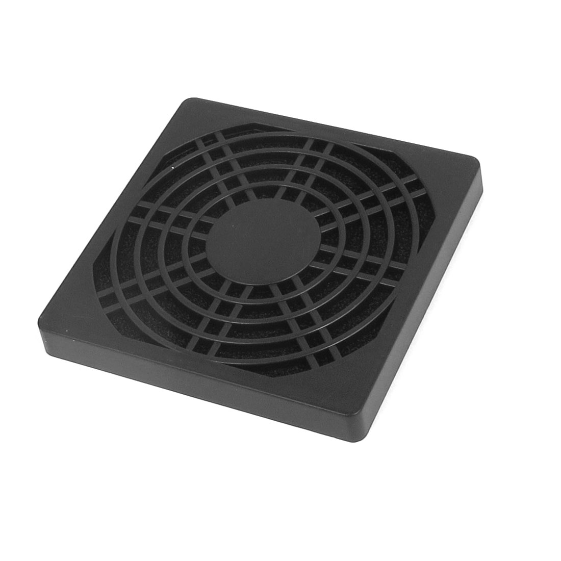 86mm x 86mm Black Plastic Square Shaped Computer PC Dustproof Cooler Fan Case Cover Dust Filter Protector Mesh