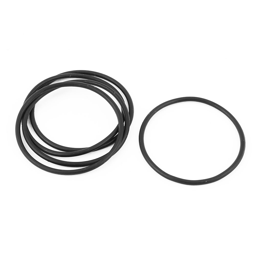 5 Pcs 46mm x 50mm x 2mm Rubber O Type Sealing Ring Gasket