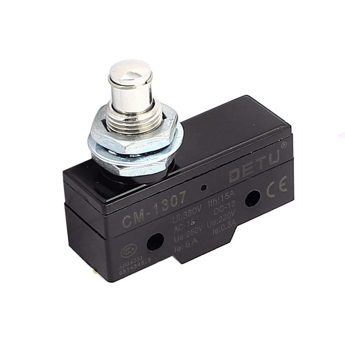 Panel Mount Plunger Type Momentary Micro Limit Switch AC 250V 220V