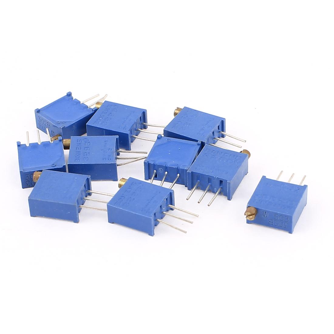 10Pcs Potentiometer Trimmer Variable Resistor Resistive 3296W 503 50K