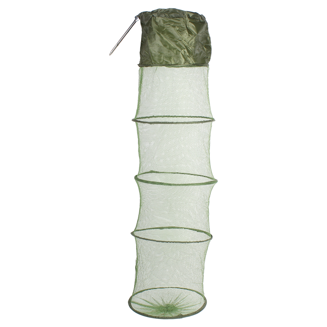 River Lake 5 Sections Mesh Foldable Fishing Tackle Fish Keep Landing Net Green