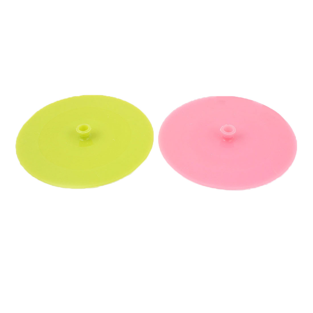 13.5cm Dia Silicone Cooking Food Storage Bowl Cup Cover Wrap Suction Lid 2Pcs