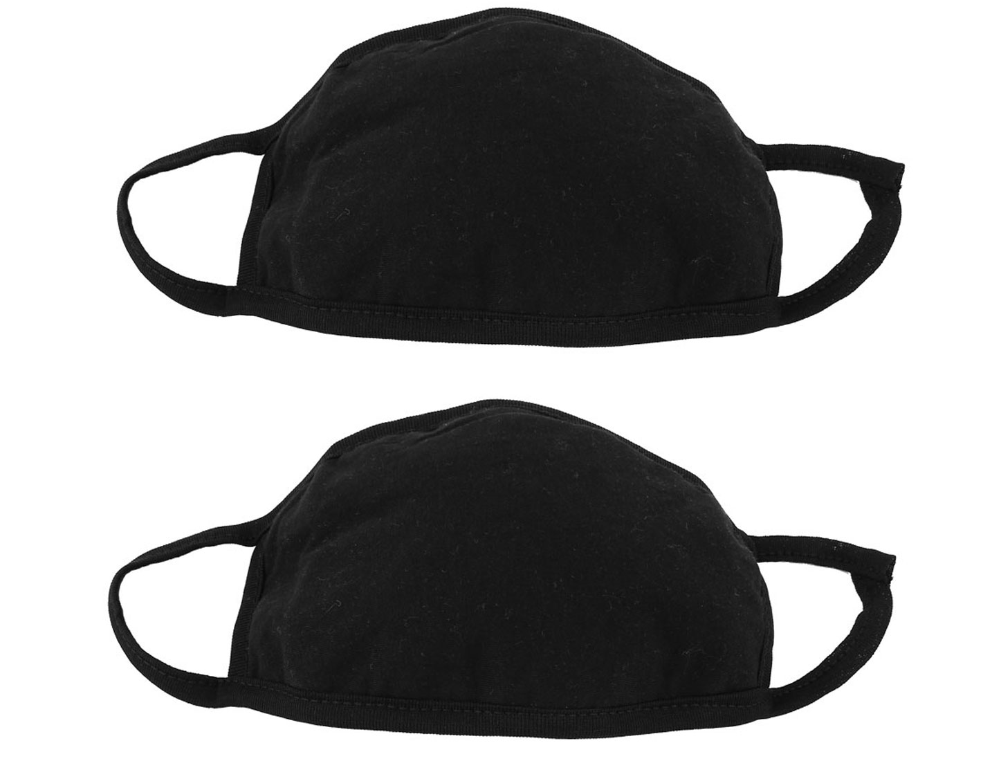 Men Women Outdoor Anti-Dust Mouth Nose Muffle Earloop Face Mask Black 2Pcs