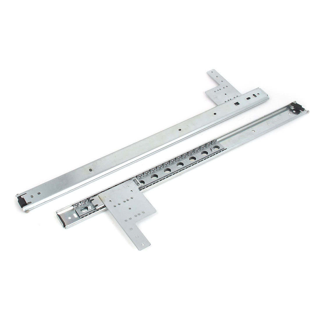 "2 Pcs 20"" Length Metal Ball Bearing Drawer Furniture Slides Sliding Rail Track Hardware Tool"