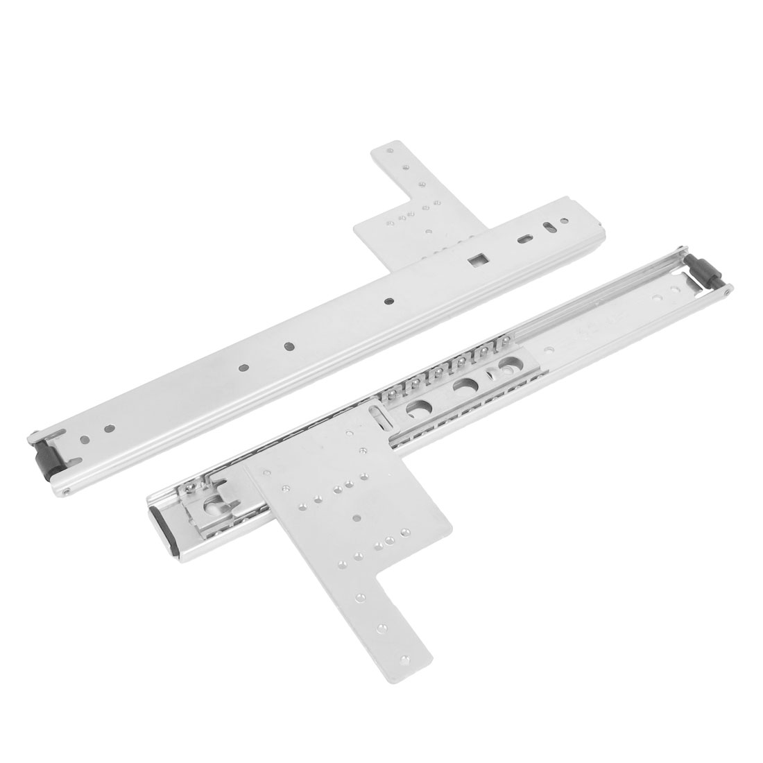 "2 Pcs 12"" Long Metal Adjustable Ball Bearing Drawer Slides Sliding Rail Track Hardware Tool"