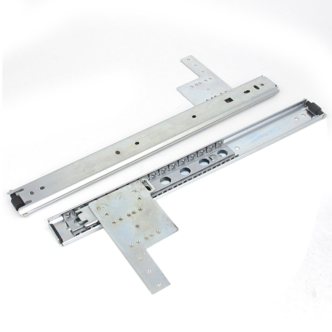 "2 Pcs 14"" Length Metal Ball Bearing Drawer Cabinets Slides Sliding Rail Track Hardware Tool"