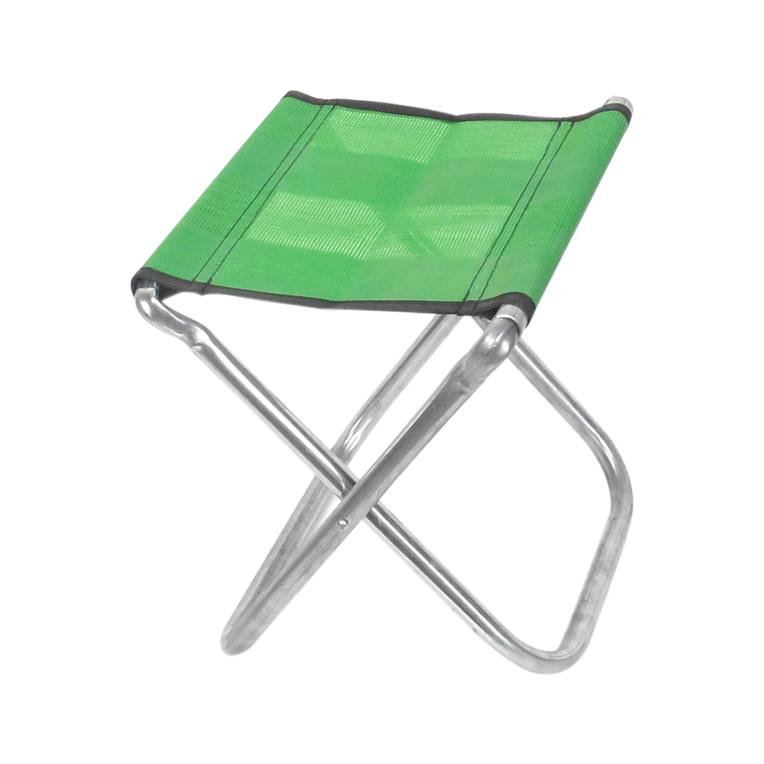 Outdoor Fishing Travel Metal Frame Nylon Seat Portable Folding Chair Stool Green
