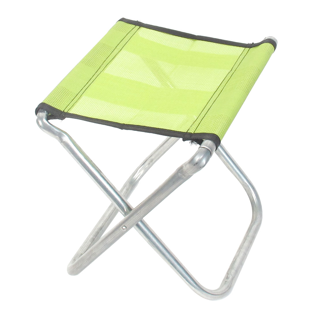 Camping Fishing Travel Metal Frame Nylon Seat Portable Folding Chair Stool Light Green