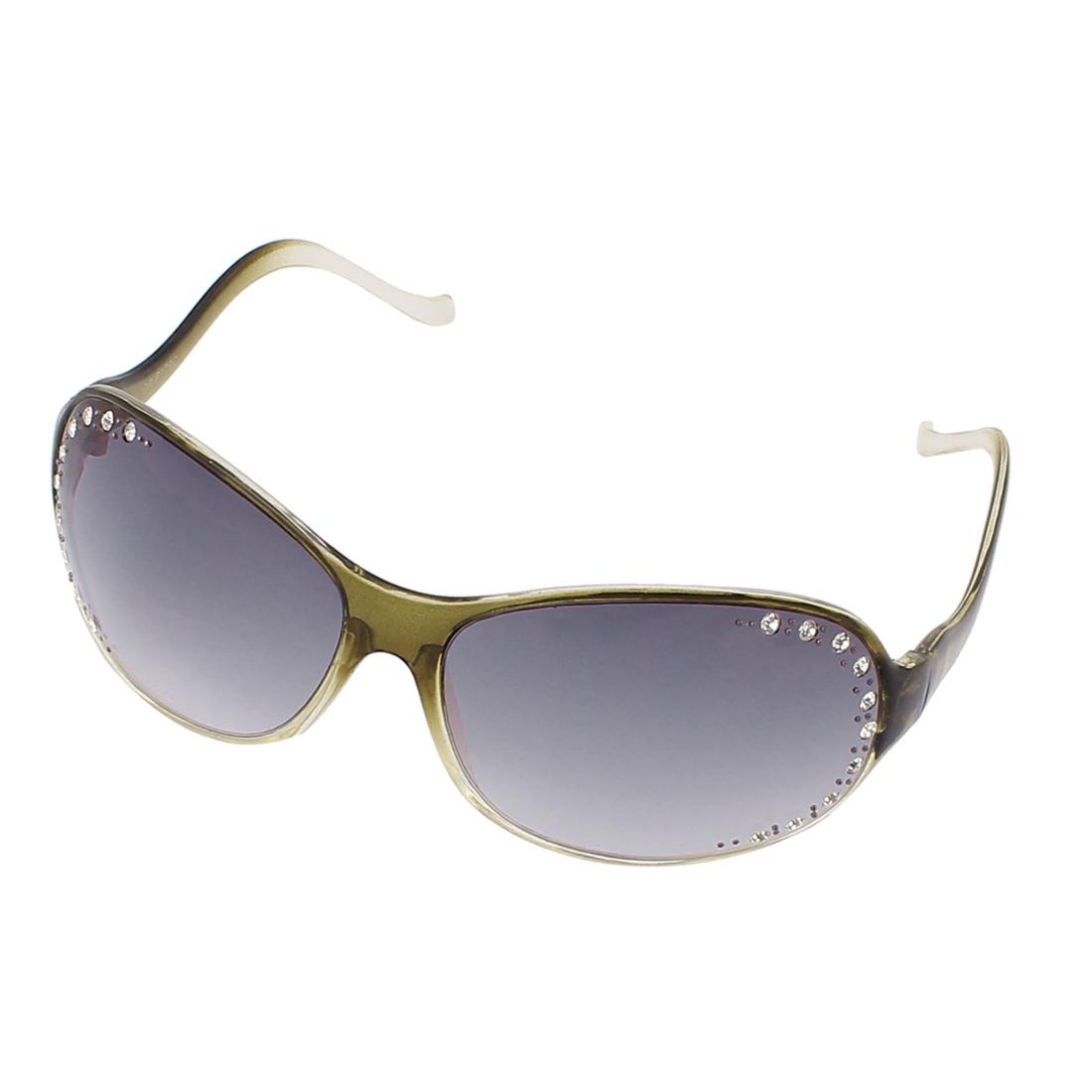 Womens Retro Style Rhinestones Decor Eyewear Sunglasses Shades