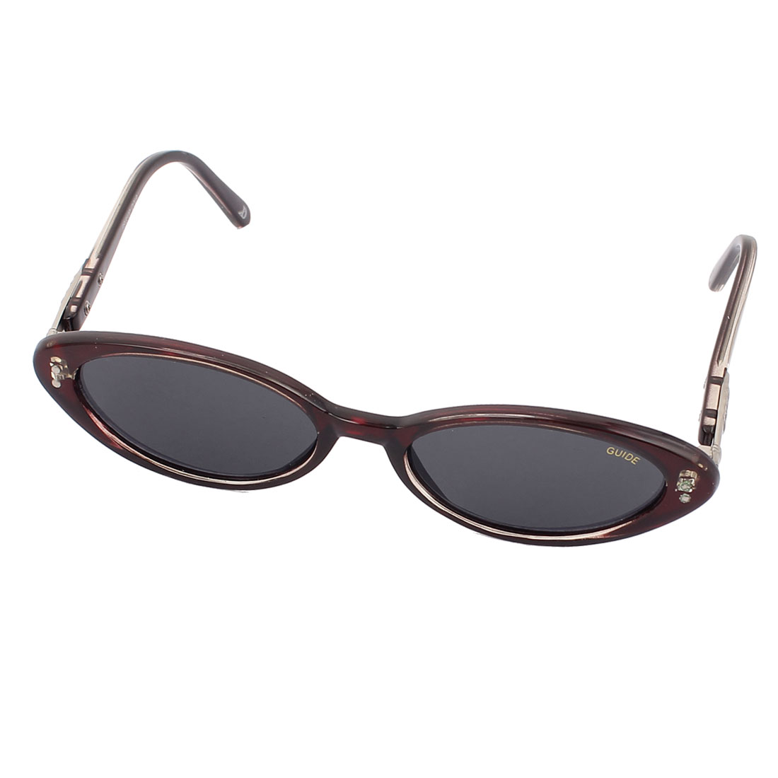 Lady Sleek Black Lens Slim Temple Sunglasses Eyeglasses Eyewear