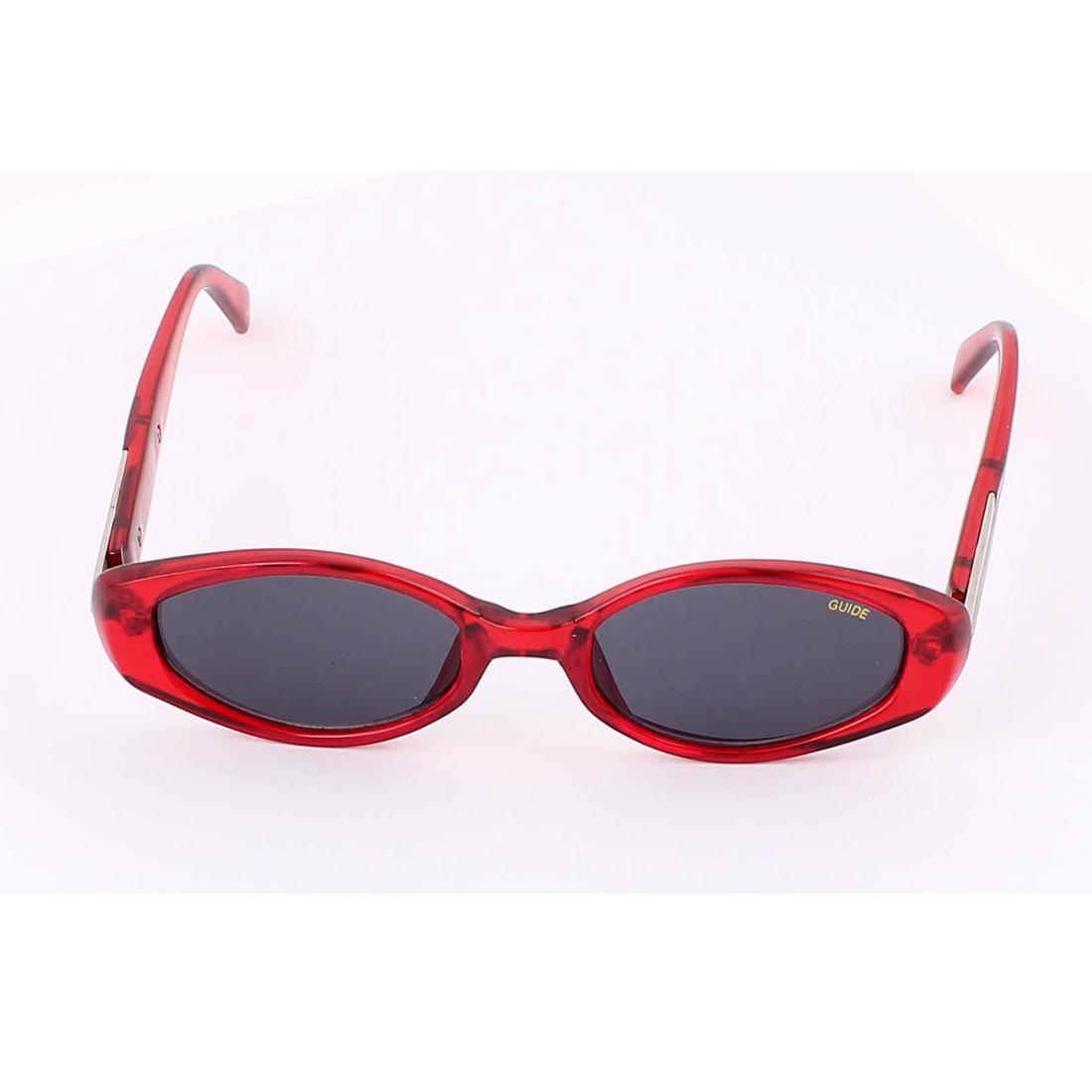 Ladies Full Rim Outdoor Protective Sunglasses Eyeglasses Eyewear Burgundy