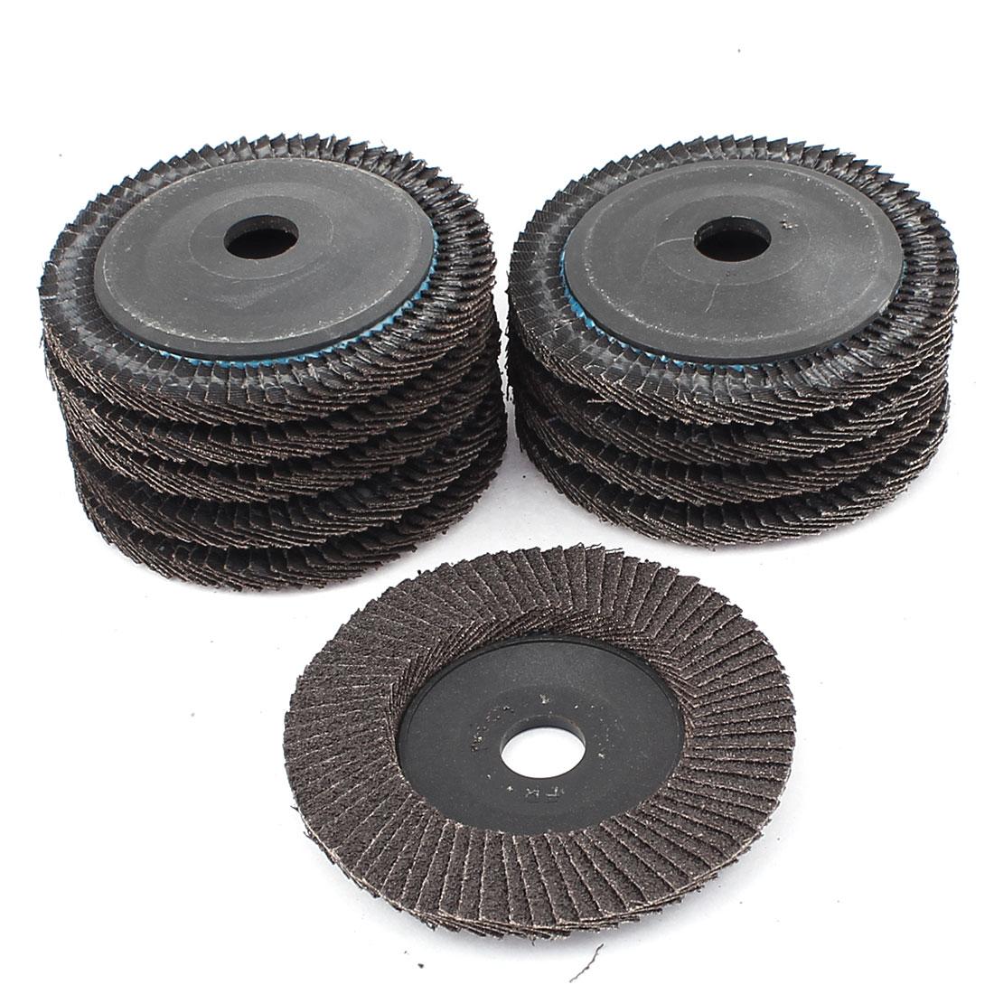 """10pcs 4"""" 72 Page Premium Sanding Flap Disc Grinding Wheel Sand Paper"""