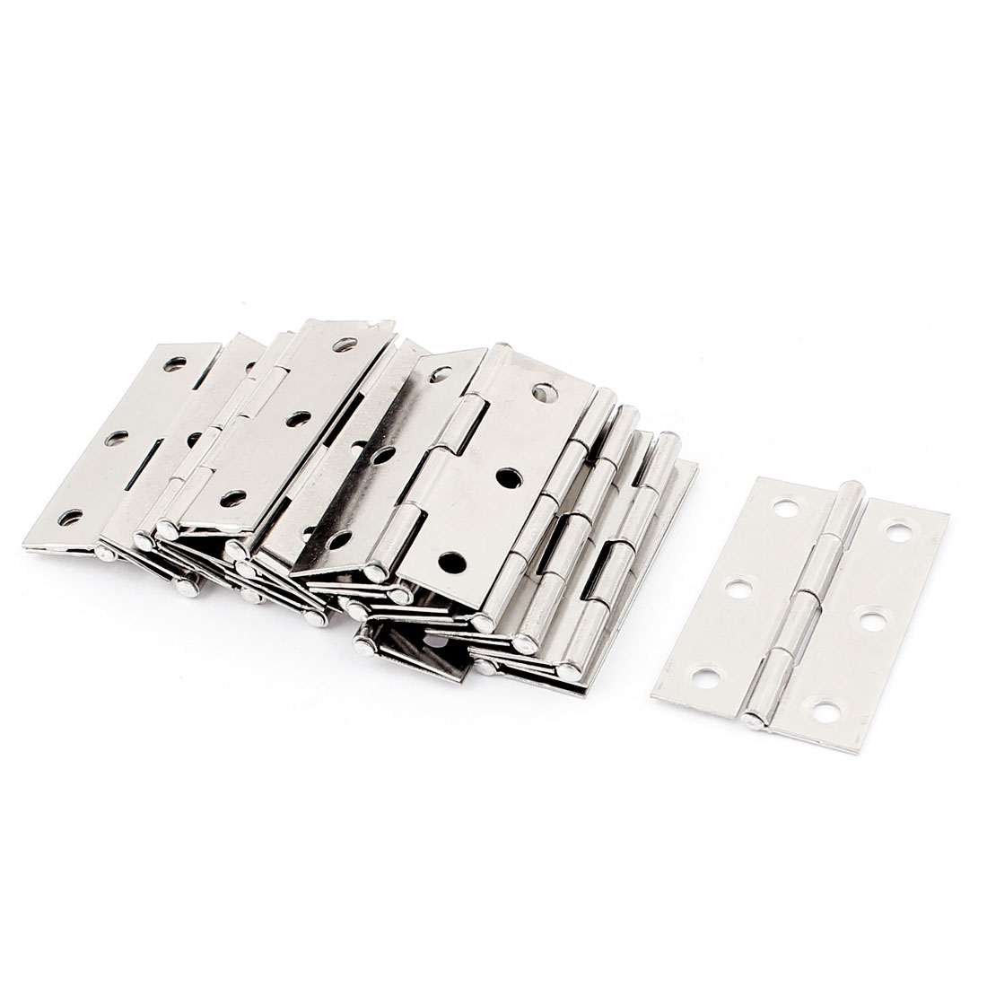 Stainless Steel 6 Hole Square Corner Door Hinges 55 x 35mm 20pcs