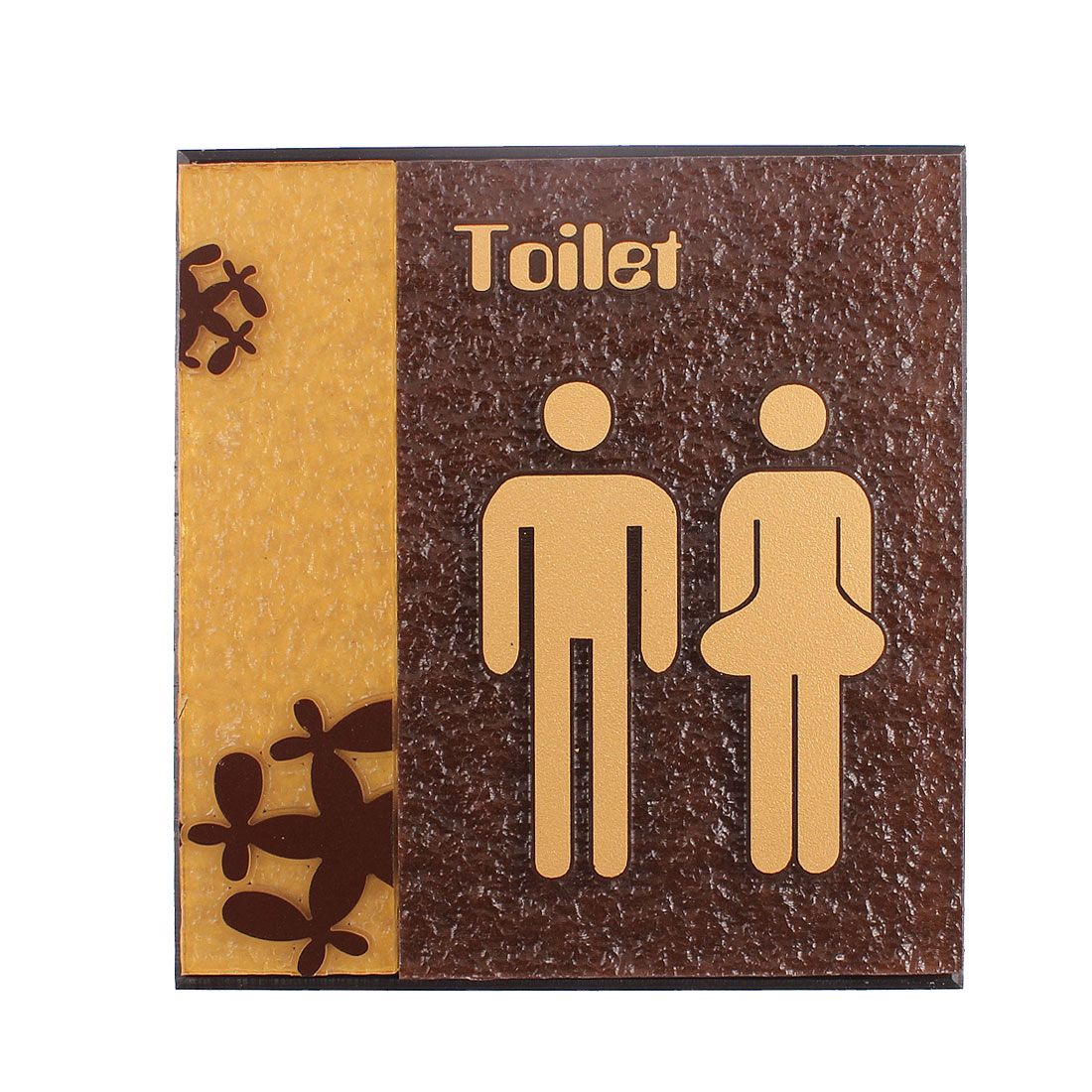 Restroom Toilet Unisex Man Lady Sign Acrylic Board Decal