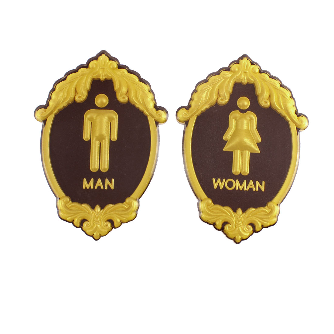 Acrylic Man Woman Washroom Toilet Notice Sign Instruction Board Pair
