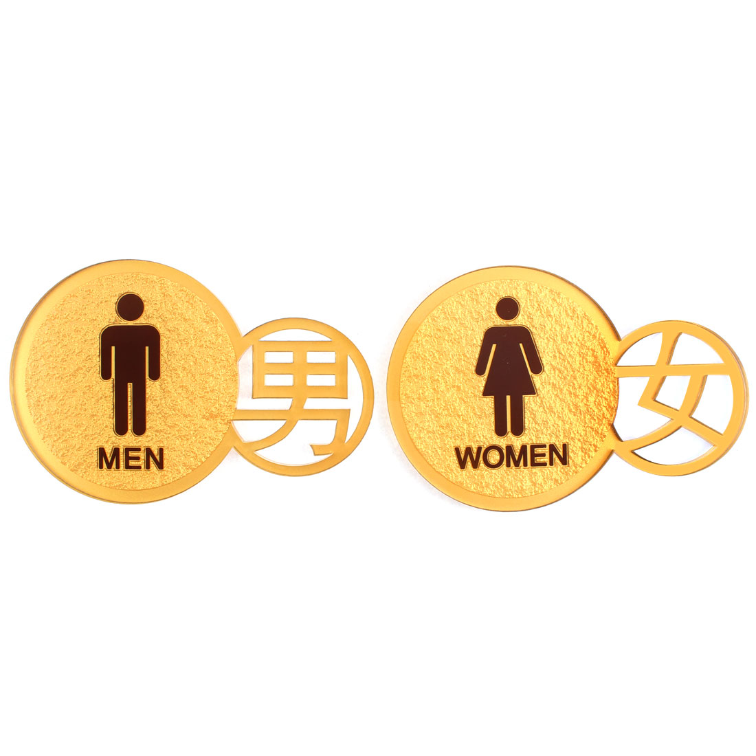 Restroom Men Women Signs Acrylic Board 13 x 19cm Pair