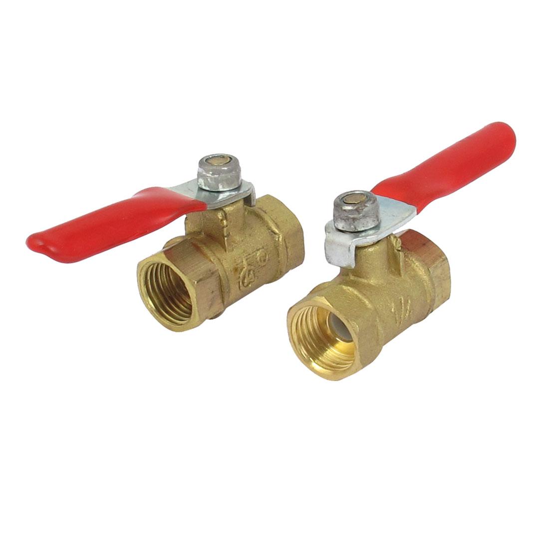 Female to Female Thread Air Water Pneumatic Gas Ball Valve 2pcs