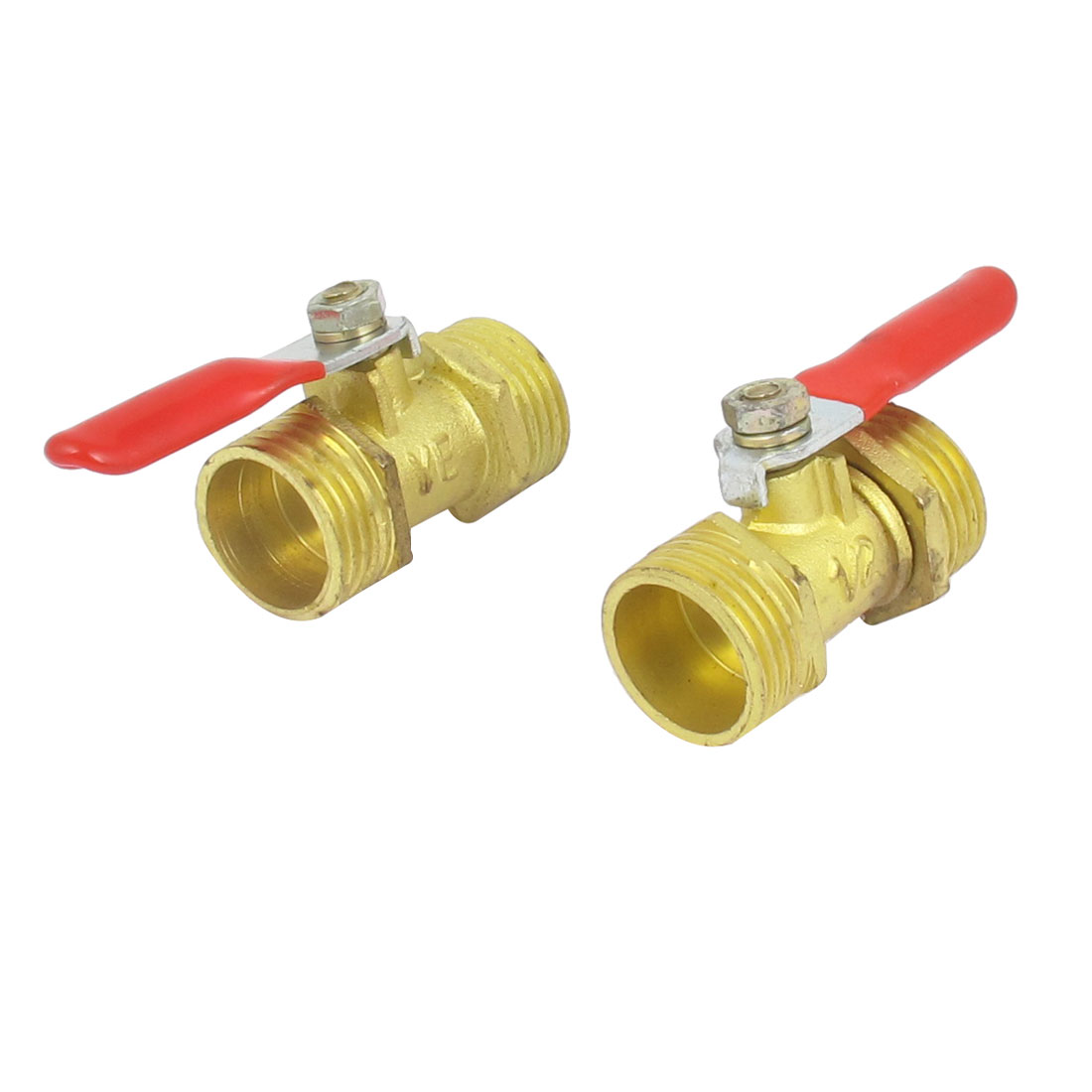 1/2BSP Male to 1/2BSP Male Thread Pneumatic Gas Ball Valve 2pcs